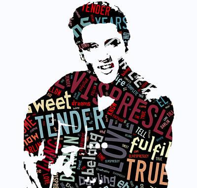 Elvis Presley Mixed Media - Elvis Love Me Tender by Marvin Blaine