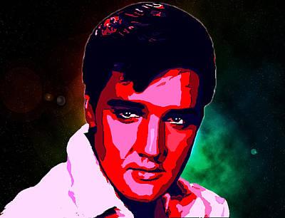 Elvis Aaron Presley Digital Art - Elvis Presley by Alexey Bazhan