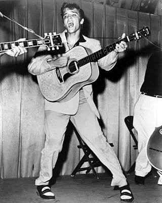Elvis Presley, C. Mid-1950s Print by Everett