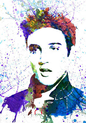 Celebrities Painting - Elvis Presley by Dante Blacksmith