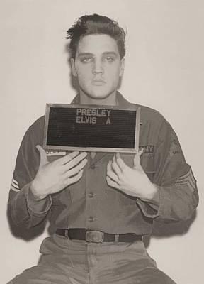 Elvis Presley Mugshot Print by Dan Sproul