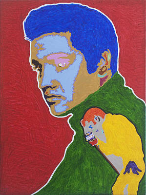 Actors Painting - Elvis Presley by Stormm Bradshaw