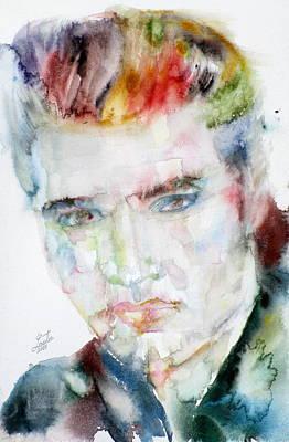 Elvis Presley - Watercolor Portrait.7 Original by Fabrizio Cassetta