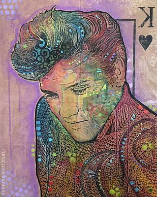 Elvis Purple King Original by Dean Russo