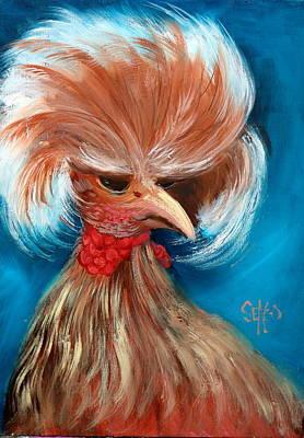 Barnyard Animal Painting - Elvis by Sally Seago