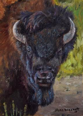 Elvis The Bison Original by Lori Brackett
