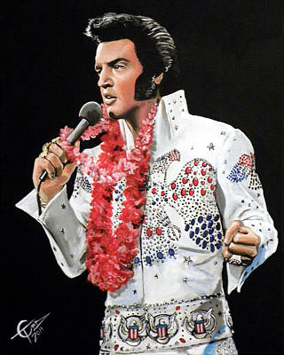 Elvis Print by Tom Carlton