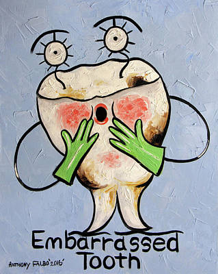Digital Art - Embarrassed Tooth by Anthony Falbo