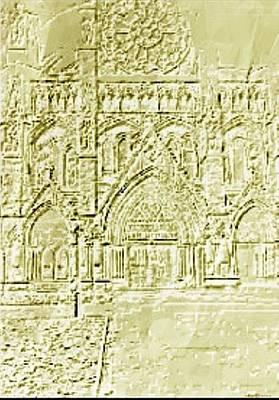 Westminster Abbey Digital Art - Embossed Abbey by Ellen Cannon