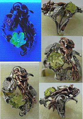 Vaseline Glass Jewelry - Embrace by Michelle  Robison