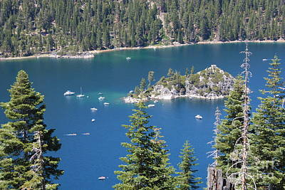 Boats In Water Photograph - Emerald Bay by Carol Groenen