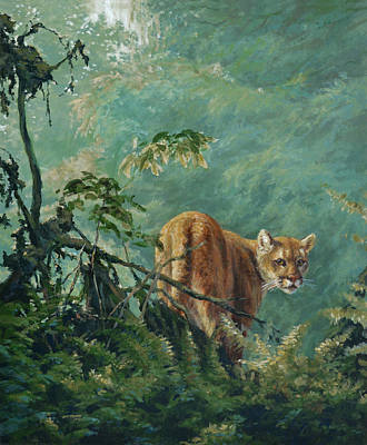 Mental Painting - Emerald Dweller by Jim Young