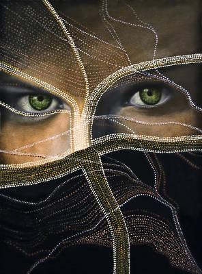People Mixed Media - Emerald Eyes by Joachim G Pinkawa
