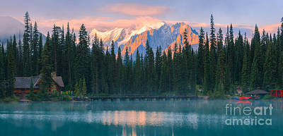 Emerald Lake Print by Henk Meijer Photography