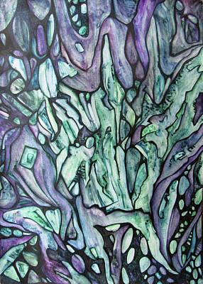 Emerald Phoenix Print by Alexander Chachanidze
