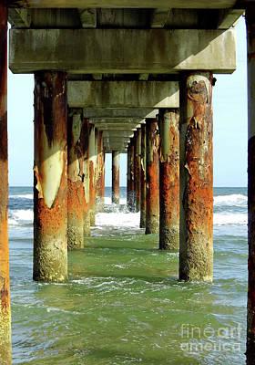 Photograph - Emerald Sea Under The Pier by D Hackett