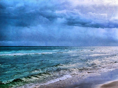 Emerald Waters Print by Theresa Campbell