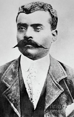Lapel Photograph - Emiliano Zapata by Mexican School