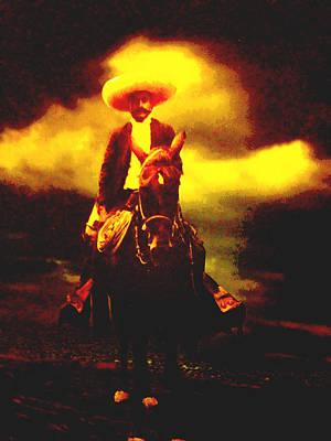 Emiliano Zapata Y Caballo Print by Totto Ponce