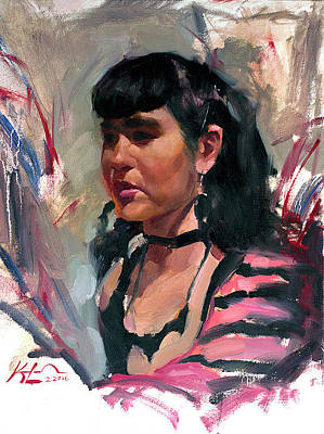 Schmid Painting - Emily by Kai Lun Qu