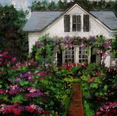 Contemplative Painting - Emily's Garden by Douglas AmEnde