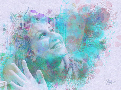Buy Digital Art - Emma My Daughter by Quim Abella