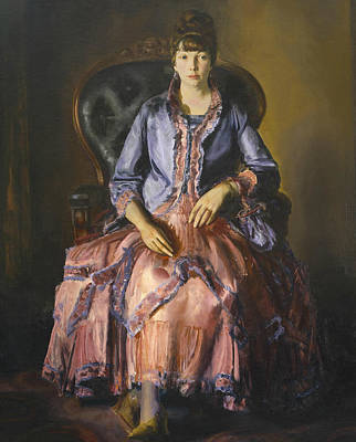 Emma In A Purple Dress Print by George Bellows