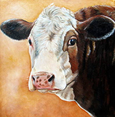 Calf Painting - Emma by Laura Carey