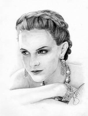Markle Drawing - Emma Watson by Rosalinda Markle
