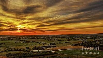Emmett Valley Sunset Print by Robert Bales