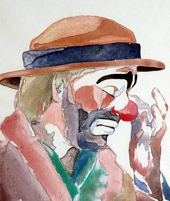 Crying Painting - Emmett Kelly by Donna Baruchi