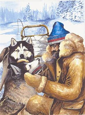 Arctic Dog Painting - Empathy by Bob Patterson