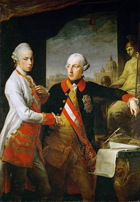 Painting - Emperor Joseph II And Emperor Leopold II by Pompeo Batoni