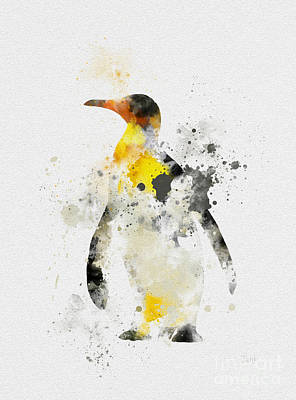 Penguin Mixed Media - Emperor Penguin by Rebecca Jenkins