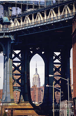 Bridge Photograph - Empire Framed by Joan McCool