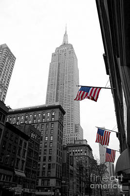 Nyc Photograph - Empire State Building In The Mist by John Farnan