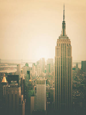 Haze Photograph - Empire State Building - New York City by Vivienne Gucwa