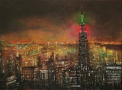 Empire State Building Painting - Empire State Building by Tom Shropshire