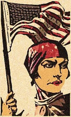 Employ American Buy American Print by Jennifer Ott