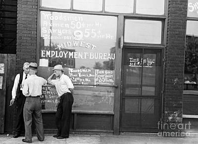Employment Bureau, 1937 Print by Granger