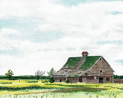 Abandoned Painting - Empty Barn by David Wolfer