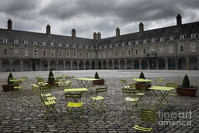 Brick Building Mixed Media - Empty Cafe by Svetlana Sewell