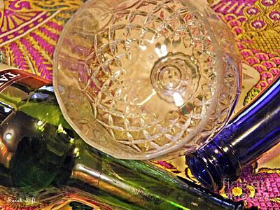 Wine Bottle Wall Art Photograph - Empty Glass by Sarah Loft