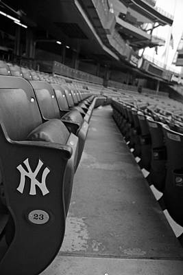 Jeter Photograph - Empty Stadium by Michael Albright