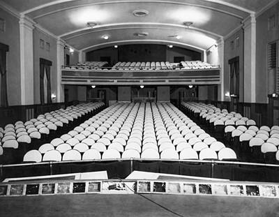 Empty Chairs Photograph - Empty Theater Interior by Underwood Archives