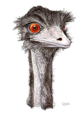 Emu Mixed Media - Emu by Emily Osborne