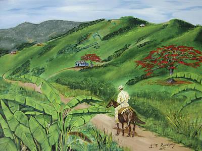 Casita Painting - En El Campo A Caballo by Luis F Rodriguez