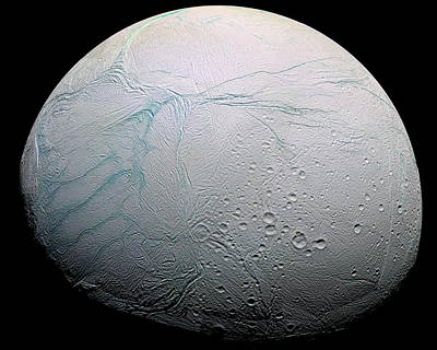 Cracks Photograph - Enceladus Hd by Adam Romanowicz