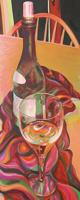 Reflections On Bottle Painting - Enchant by Trina Teele