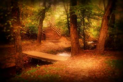 Pathway Digital Art - Enchanted Path - Allaire State Park by Angie Tirado